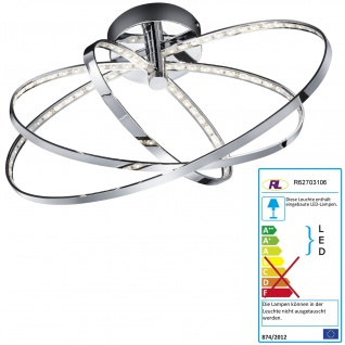 Reality Trio LED-Deckenleuchte RL145, Hängeleuchte, 3 Ringe oval 13W EEK A