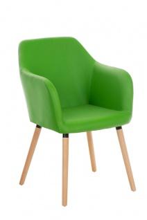 Konferenzstuhl CP516, Besucherstuhl Kunstleder, grün