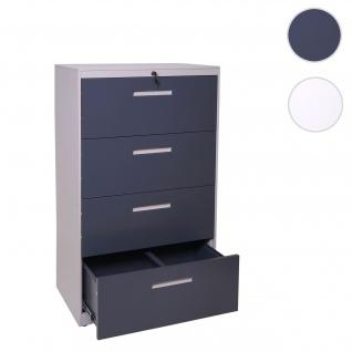 Hängeregisterschrank HWC-A10, Aktenschrank Büroschrank Stahlschrank, A4 abschließbar ~ 132x76x46cm grau-dunkelgrau