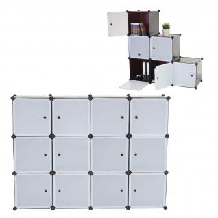 Regalsystem Sydney T307, 12 Boxen je 36x36x36cm braun
