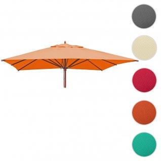 Bezug für Gastronomie Holz-Sonnenschirm HWC-C57, Sonnenschirmbezug Ersatzbezug, eckig 4x4m Polyester 3kg ~ terracotta