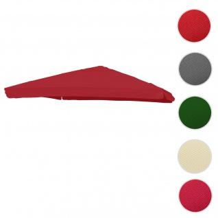 Bezug für Luxus-Ampelschirm HWC-A96 mit Flap, Sonnenschirmbezug Ersatzbezug, 3x4m (Ø5m) Polyester 4kg ~ bordeaux