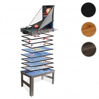 Tischkicker HWC-J16, Tischfußball Billard Hockey 20in1 Multiplayer Spieletisch, MDF 174x107x60cm ~ anthrazit-grau