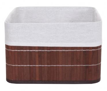4x Aufbewahrungskorb HWC-C21, Korb Aufbewahrungsbox Ordnungsbox Sortierbox Regalkorb, Bambus braun - Vorschau 3