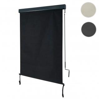 Vertikalmarkise HWC-F42, Senkrechtmarkise Sichtschutz Außenrollo Rollo, UV-Schutz 50 Stoff ~ 250x100cm, schwarz