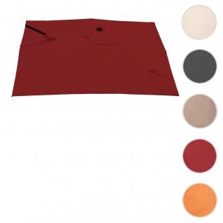 Bezug für Ampelschirm HWC-A39, Sonnenschirmbezug Ersatzbezug, 3x3m (Ø4, 24m) Polyester 2, 8kg ~ bordeaux