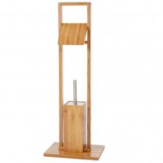 WC-Papierhalter, Klopapierhalter Toilettenrollenhalter, Bambus