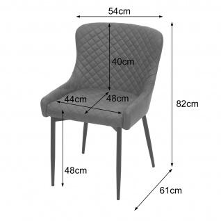 2x Esszimmerstuhl HWC-H79, Küchenstuhl Lehnstuhl Stuhl, Vintage Metall ~ Stoff/Textil braun - Vorschau 3