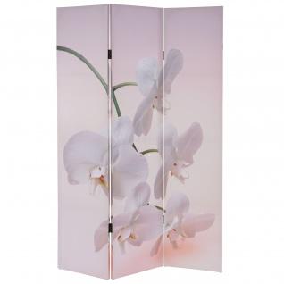 Foto-Paravent T233, Paravent Raumteiler 180x120cm ~ Orchid