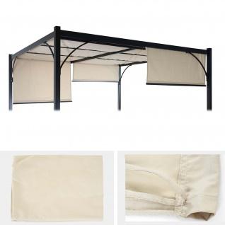 Ersatzbezug 390x140cm für Dach Pergola Pavillon Granada 3x3xm creme