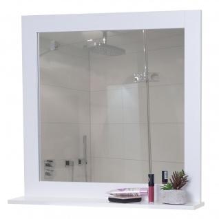 Wandspiegel HWC-F75, Badezimmer Badspiegel Spiegel, Ablagefläche Landhaus 58x59x12cm weiß
