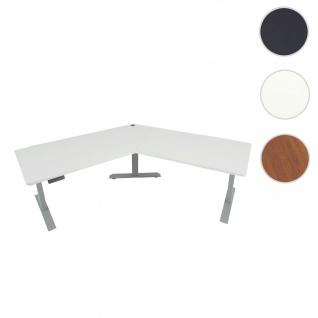 Schreibtisch HWC-D40, Computertisch, 120° elektrisch höhenverstellbar ~ weiß, grau