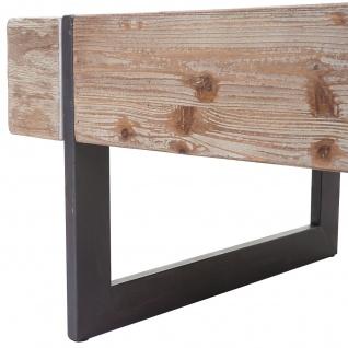 Couchtisch HWC-A15a, Wohnzimmertisch, Tanne Holz rustikal massiv 40x120x60cm ~ naturfarben - Vorschau 4