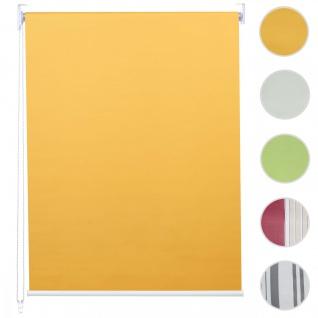 Rollo HWC-D52, Fensterrollo Seitenzugrollo Jalousie, Sonnenschutz Verdunkelung blickdicht 120x160cm ~ gelb