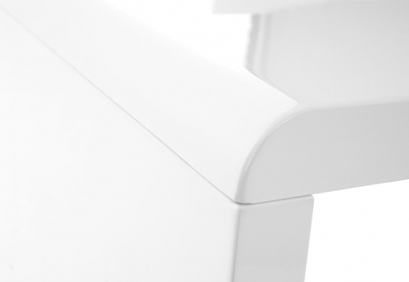 B-Ware Schreibtisch HWC-D74, Computertisch Bürotisch, hochglanz weiß 75x120x50cm - Vorschau 4