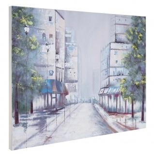 Ölgemälde Ortschaft, 100% handgemaltes Wandbild Gemälde XL, 120x90cm - Vorschau 3