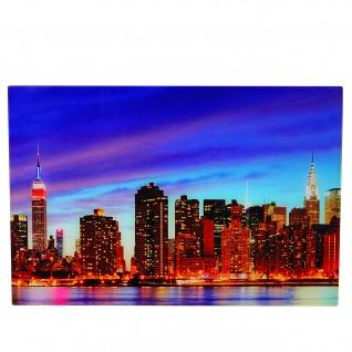 Glasbild T116, Wandbild Poster Motiv, 40x60cm ~ New York