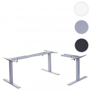 Gestell HWC-D40, variables Tischgestell für Eck-Schreibtisch, elektrisch höhenverstellbar Memory 45kg ~ grau