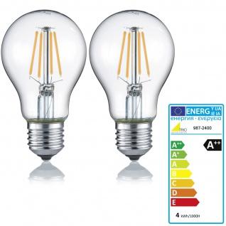 Trio LED-Leuchtmittel RL187, Filament Glühbirne Leuchte, E27 4W warmweiß EEK A++ ~ 2er Set