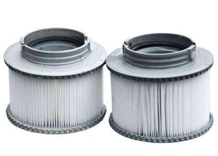 2x Wasserfilter für Whirlpool MSpa HWC-A62, Ersatzfilter Filterkartusche, Zubehör - Vorschau 4