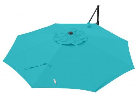 Gastronomie-Ampelschirm HWC-A39, Sonnenschirm, schwenkbar drehbar Ø 3, 5m Polyester/Alu 34kg - Vorschau 4