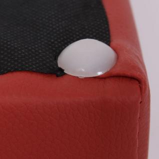 Sitzhocker Paris Sitzwürfel Hocker, Kunstleder, 40x38x38 cm braun - Vorschau 2