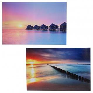 2x LED-Bild Leinwandbild Leuchtbild Wandbild 40x60cm, Timer ~ Vacancy