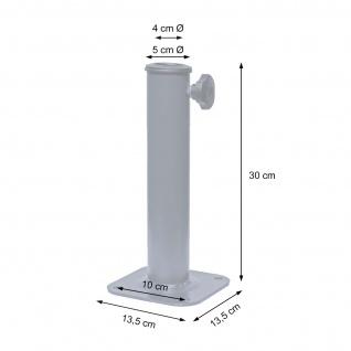 Ständer auf Bodenhülse HWC-A96, Schirmständer für Bodenanker/-platte/-montage Sonnen-/Ampelschirm, Metall Ø 38-48mm - Vorschau 2