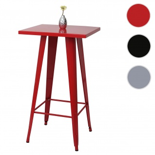 Stehtisch HWC-A73, Bistrotisch Bartisch, Metall Industriedesign 105x60x60cm ~ rot