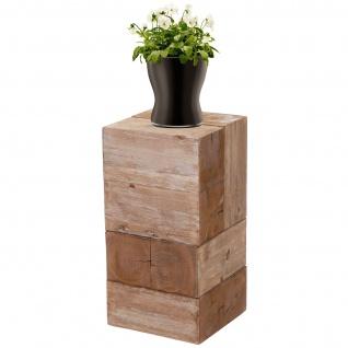 Blumentisch HWC-A15, Blumensäule Blumenständer, Tanne Holz rustikal massiv ~ 60cm