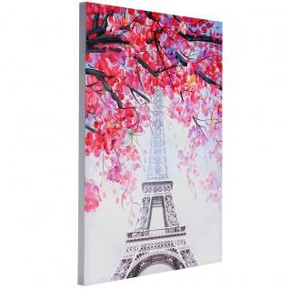 Ölgemälde Eiffelturm, 100% handgemaltes Wandbild Gemälde XL, 100x70cm - Vorschau 3