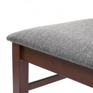 2x Esszimmerstuhl HWC-G62, Küchenstuhl Lehnstuhl Stuhl, Stoff/Textil Massiv-Holz Landhaus dunkles Gestell, grau - Vorschau 4