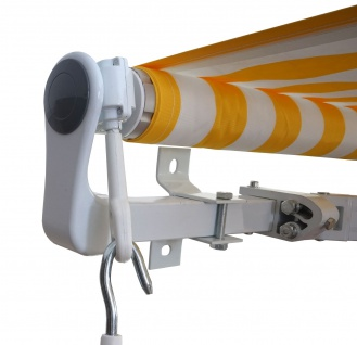 Alu-Markise HWC-E49, Gelenkarmmarkise Sonnenschutz 2, 5x2m - Vorschau 2