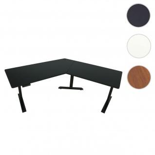 Schreibtisch HWC-D40, Computertisch, 120° elektrisch höhenverstellbar ~ schwarz, schwarz