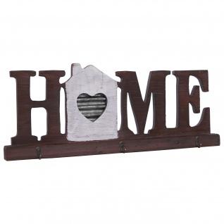 Wandgarderobe HWC-A91 Home, Garderobenpaneel, Landhaus Holz Metall