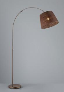 Trio Bogenlampe RL167, Stehleuchte Standleuchte Bogenleuchte, Organza braun 195cm - Vorschau 3