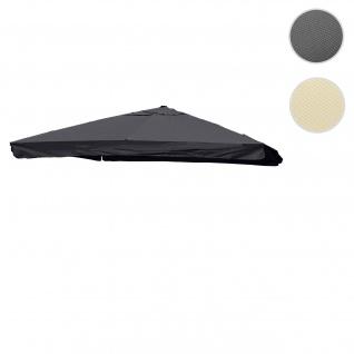 Bezug für Luxus-Ampelschirm HWC-A96 mit Flap, Sonnenschirmbezug Ersatzbezug, 3, 5x3, 5m (Ø4, 95m) Polyester 4kg ~ anthrazit