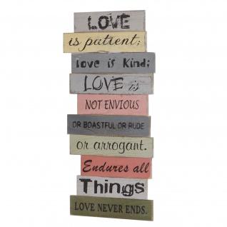 Wandschild Love, Holzschild Schild, Shabby-Look 61cm - Vorschau 1