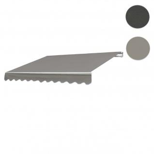 Bezug für Markise HWC-E49, Gelenkarmmarkise Ersatzbezug Sonnenschutz, 2, 5x2m ~ Polyester grau-braun