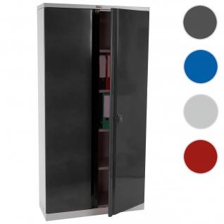 Aktenschrank Valberg T332, Metallschrank Büroschrank, 2 Türen 182x92x37cm ~ anthrazit