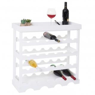 Weinregal Sevilla, Flaschenregal Flaschenständer für 24 Flaschen, Shabby-Look 25x70x70cm