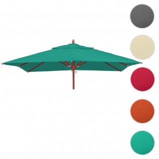 Bezug für Gastronomie Holz-Sonnenschirm HWC-C57, Sonnenschirmbezug Ersatzbezug, eckig 3x3m Polyester 3kg ~ blau-grün