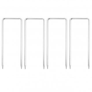 4x Fixiernagel für Absperrgitter HWC-B34, Erdnagel Hering Erdspieß für Scherengitter Zaun Schutzgitter