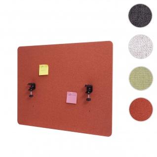 Akustik-Tischtrennwand HWC-G75, Büro-Sichtschutz Schreibtisch Pinnwand, doppelwandig Stoff/Textil ~ 75x60cm braun