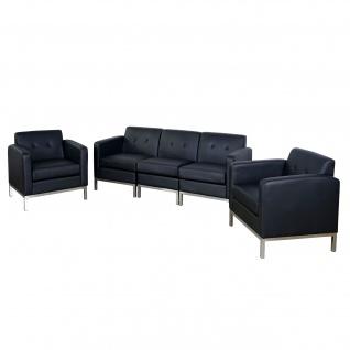 3-1-1 Sofagarnitur HWC-C19, Modular-Sofa Loungesofa, erweiterbar Kunstleder schwarz - Vorschau 5