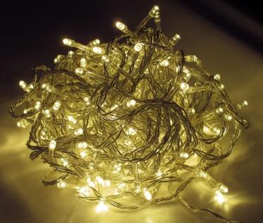 LED Lichterkette LD05, Leuchtkette, für Außen und Innen ~ Kabel schwarz, 200 LEDs, warmweiß