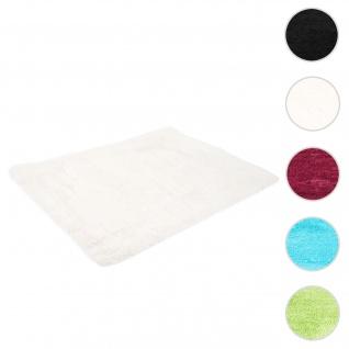 Teppich HWC-F69, Shaggy Läufer Hochflor Langflor, Stoff/Textil flauschig weich 160x120cm ~ weiß