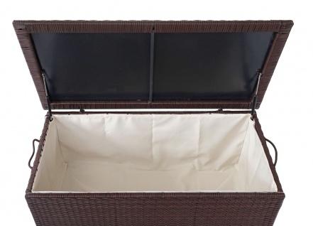 Poly-Rattan Kissenbox HWC-D88, Gartentruhe Auflagenbox Truhe ~ Premium braun, 80x160x94cm 950l - Vorschau 4