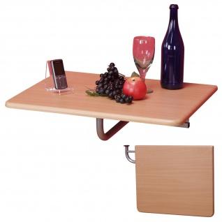 Wandtisch H125, Klapptisch Tisch Wandregal, 60x50cm