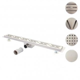 Duschrinne HWC-D94a, Bodenablauf Abflussrinne Duschablauf, Edelstahl Siphon 50-120cm ~ 50cm